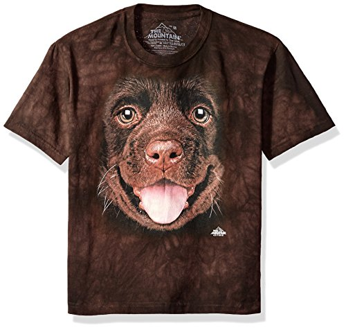 The Mountain Little Kids Big Face Chocolate Lab Puppy, Brown, - Kids Brown Apparel Big Chocolate