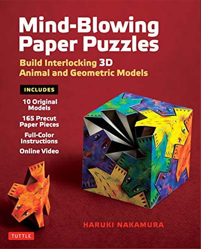 Mind-Blowing Paper Puzzles Ebook: Build Interlocking 3D Animal and Geometric Models