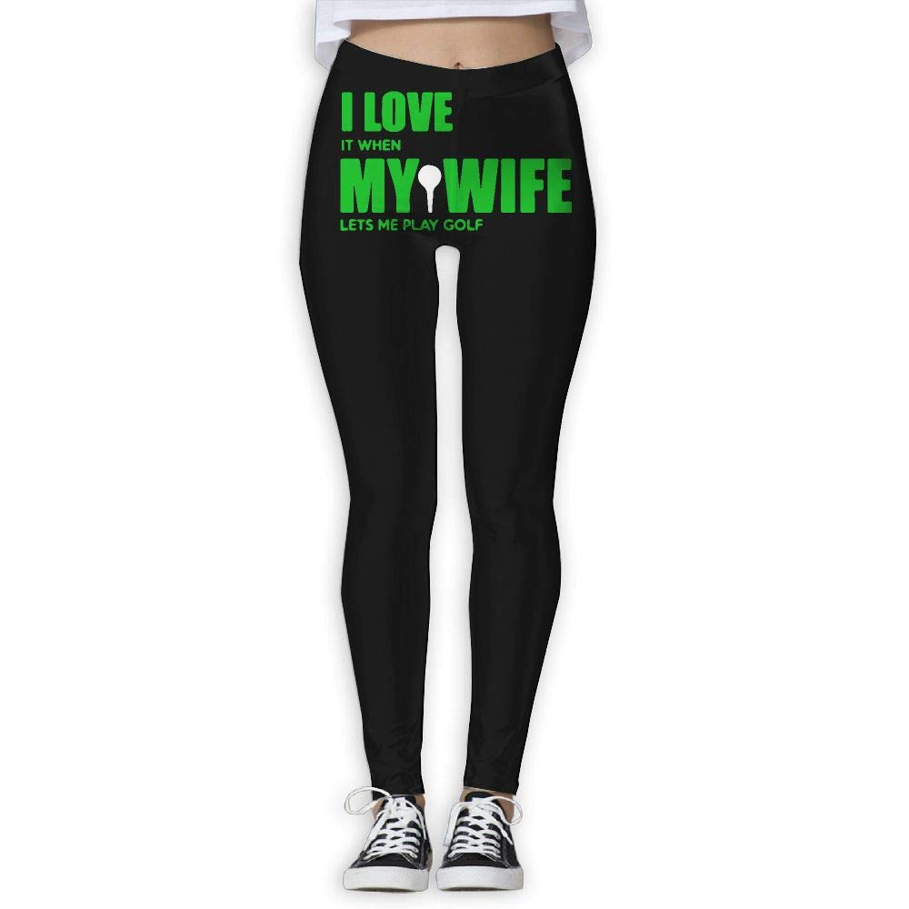 Amazon.com: Womens Yoga Pants I Love When My Wife Lets Me ...