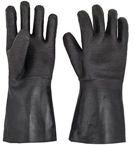 BBQ Gloves - Smoker, Grill, and Cooking Gloves. For Handling Hot Food Right On Your Fryer Grill or Oven. Insulated Flame Oil & Heat Resistant, Waterproof Neoprene Coating -1 pair (14 Inch)