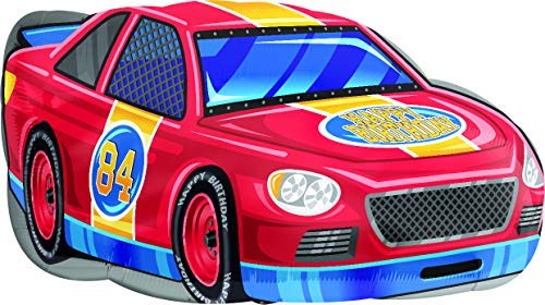30 Inch Race Car Happy Birthday Foil Balloon