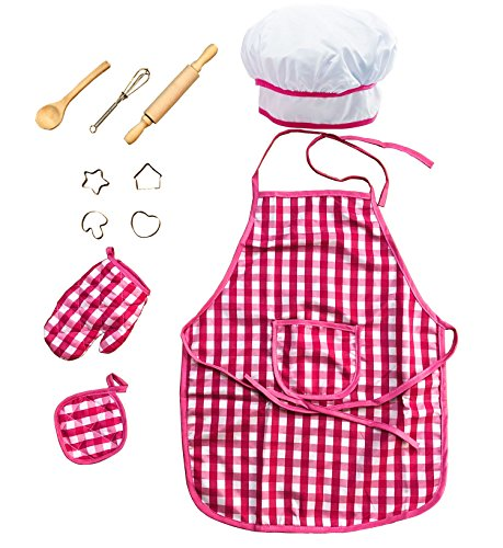 Deluxe Kids Chef Set - Little Chef Role Play 11 Piece Set -