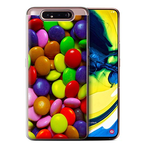 (eSwish Gel TPU Phone Case/Cover for Samsung Galaxy A80/A90 2019 / Smarties Design/Sweets & Candy Collection)