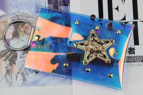 Other - Cartera de mano para mujer S Clear Rainbow Hologram