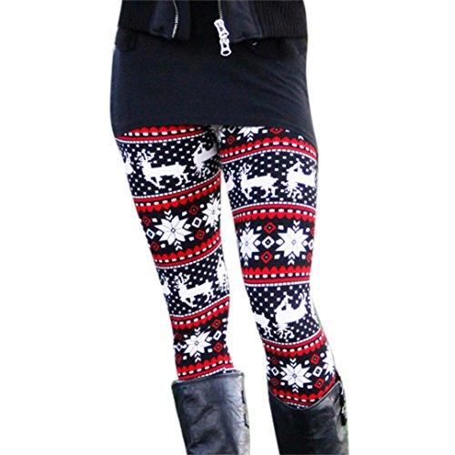 Pants for Womens, FORUU Casual Skinny Geometric Printed Jegging Slim Leggings