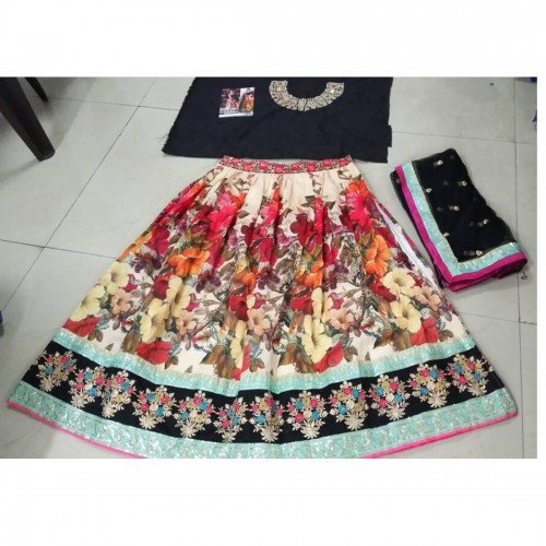 Lehenga-Salwar-New-Anarkali-Style-For-PartyWedding-or-Festival-Wear-Embroidery-Salwar-SuitGown-Multi-Color-Free-Size-35