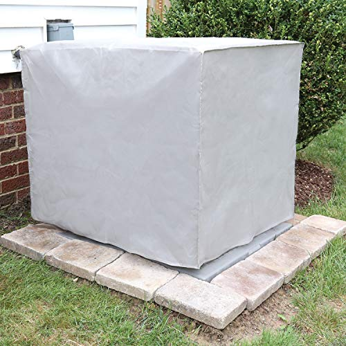 SUPPORT PLUS Outdoor Air Conditioner Unit Cover - Square Exterior A/C Winter Weather Protector - Gray by SUPPORT PLUS