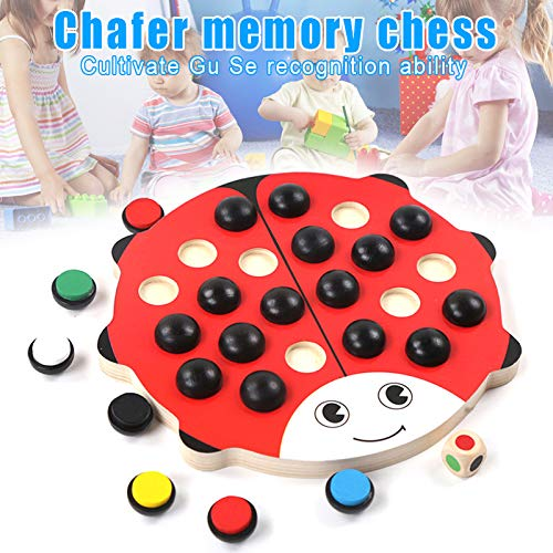 Gizayen Kids Wooden Memory Match Chess Game Educational Toys Brain Training Gifts Children, Logic Game and Brainteaser…