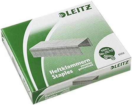 LEITZ Heftklammer 5574 25//10 P5 verzinkt 1000 Stück