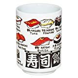 New design of Japanese tea cup set come from Japan !!!!!! This Japanese tea cup is painted various kinds of Sushi, for example Shrimp, Bonito and Octopus in Japanese and English. This tea cup is perfect for using when you eat Sushi. We call t...