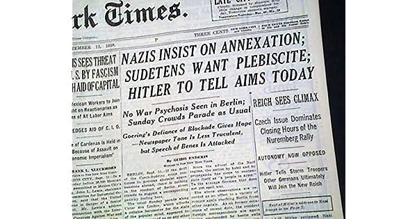 Amazon.com: Nuremberg Rally - Nazi Germany - THE NEW YORK ...