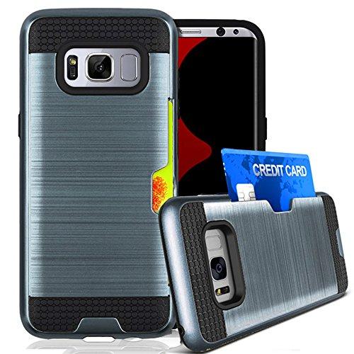 Galaxy S8 Plus Case, Jwest S8 Plus Wallet Card Holder Defender Rubber...