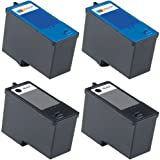 Dell 4-Pack 2BK+2C Series 5 Hi-Yield Remanufactured Ink for M4640 M4646 All-in-One 922 / 942 / 962 / 924 / 964 / 944 Printer