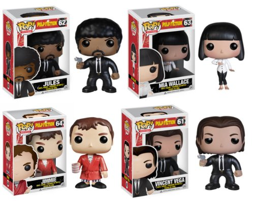 "Pulp Fiction Pop Movies Vinyl 4"" Figure Set Of 4"