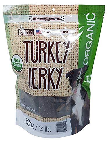 Chewmaster Organic Turkey Jerky Treats, 2 Pound (3 Pack)