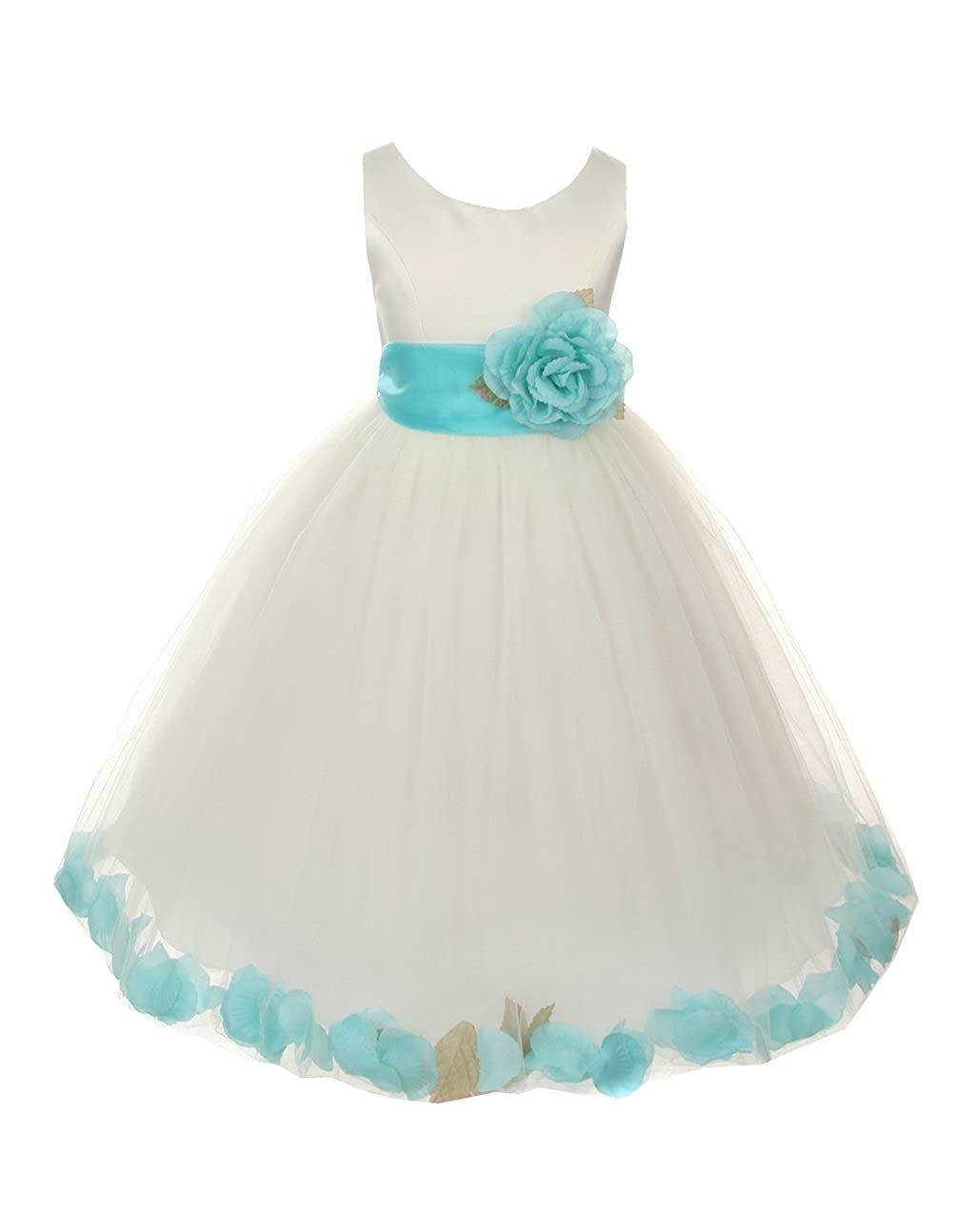 822afc4ddc00 Amazon.com: Cinderella Couture Big Girls' Ivory Tulle Petal Flower Girl  Pageant Dress: Clothing