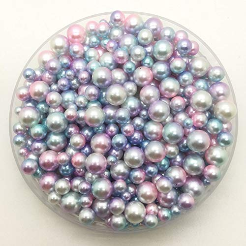 Round Pearls for Crafts Mix Size-Multi Color Acrylic Round Loose Beads-Imitation Pearl Beads-Round Pearl Bead no Hole for Decor-Acrylic Loose Beads-Loose Beads for Jewelry Making-DIY Accessories (N28) ()
