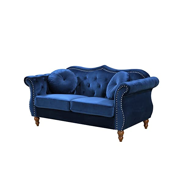 Container Furniture Direct S5365-L Anna1 Loveseat, Blue