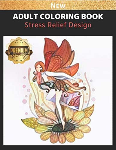 Adult Coloring Book: Stress Relief Coloring Picture for Girl and Women, Fairy Tale & Flower Edition, Large Print 8.5x11 in (Adult Coloring Page)