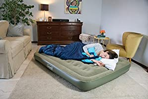 Coleman Comfort Bed - Colchón Hinchable Doble (188 x 137 x 22 cm), Color Verde
