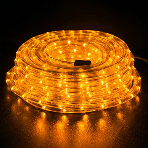 Wyzworks 25 feet 12 thick amber orange pre assembled led rope wyzworks aloadofball Choice Image