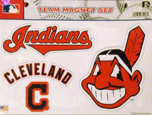 MLB Cleveland Indians Team Magnet Set, Team Logo