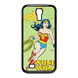 Wonder Woman Retro Tin Sign DC Comic Samsung Galaxy S4 I9500 Here Comes Amazing hard Cover Case