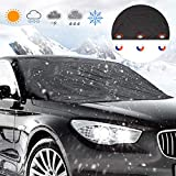 Car Windshield Snow Cover, Manba Sun Shade Protector - Frost Car Windshield Snow Cover - Winter Ice Rain Frost Automotive Hood Covers, Keep Your Vehicle Exterior Frost Free Clean Most Cars/SUV