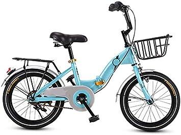 HJTLK Bicicleta Plegable para niños, Cochecito de niña Ligero de ...
