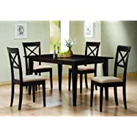 5 Pc Dining Set Criss Cross Back Chairs Chair Set