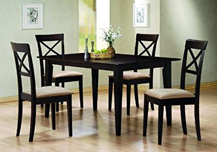 Ordinaire 5 Pc Dining Set Criss Cross Back Chairs Chair Set