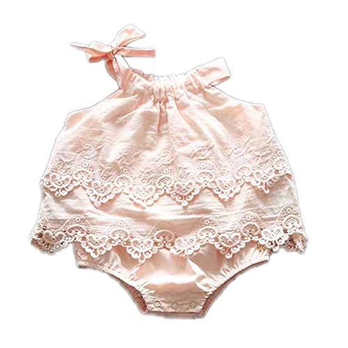 Colorful Childhood Newborn Baby Romper Girls Jumpsuit Infant Bodysuit Tutu Lace Dress Clothes Outfit Pink Size (Outfits With Dresses)