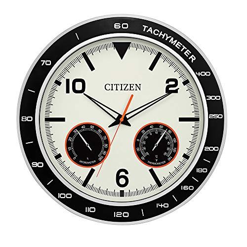 - Citizen CC2019 Outdoor Wall Clock, Black