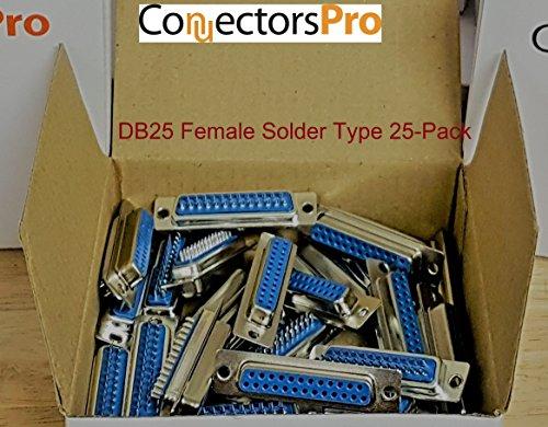 Pc Accessories - Connectors Pro DB25 Female D-Sub Solder Type Connector, 25-PACK Db25 Male D-sub Solder Connector
