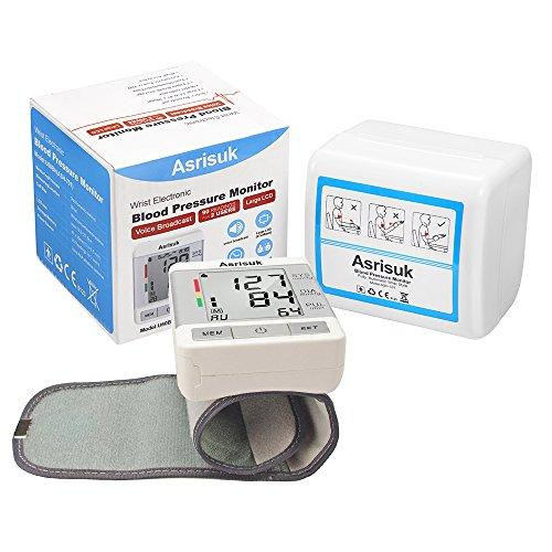 Asrisuk Blood Monitor Readings User Adjustable Wrist Screen Portable BP