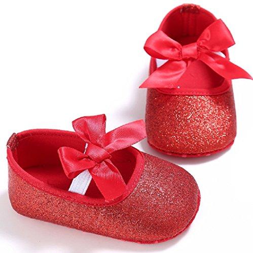 Para Rojo Bebé Soft Primer Nacido auxma De Bottom Antideslizante Zapatos Recién Brillo Partido Caminar Bebé Prewalker twOZqx0