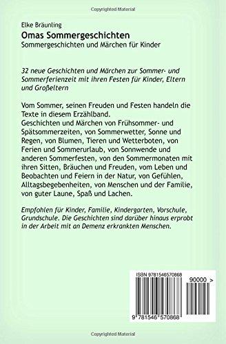 Omas Sommergeschichten Sommergeschichten Und Märchen Für Kinder