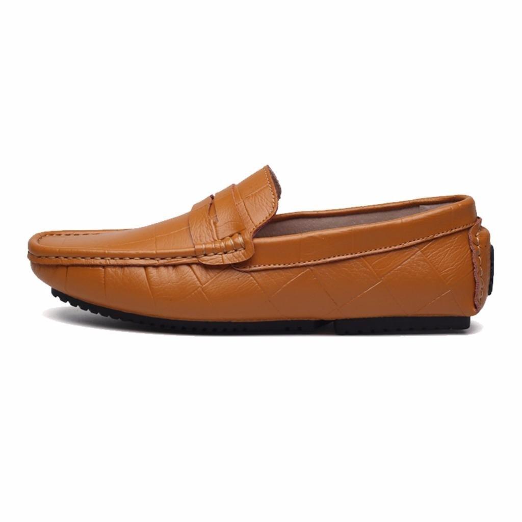 Moonwalker Mens Genuine Leather Slip-on Penny Loafers