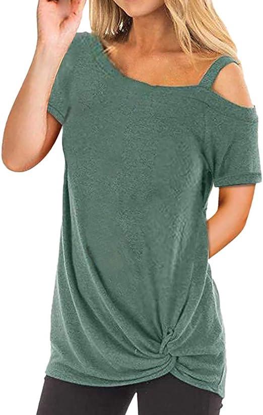 Ronamick Camisetas Mujer Manga Larga Sexy Verano Blusa Blanca Niña Tops Mujer Deporte Verano Camisa Cuadros Mujer (Verde,L): Amazon.es: Hogar