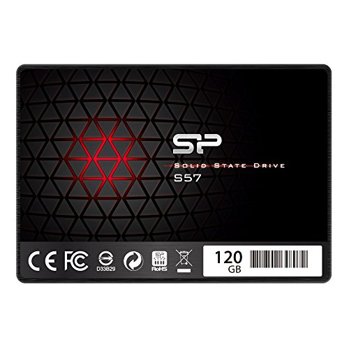 Silicon Power/Marvell Controller 120GB S57 (SLC Cache Performance Boost) SATA III Internal Solid State Drive- Free-download SSD Health Monitor Tool Included (SP120GBSS3S57A25AD)