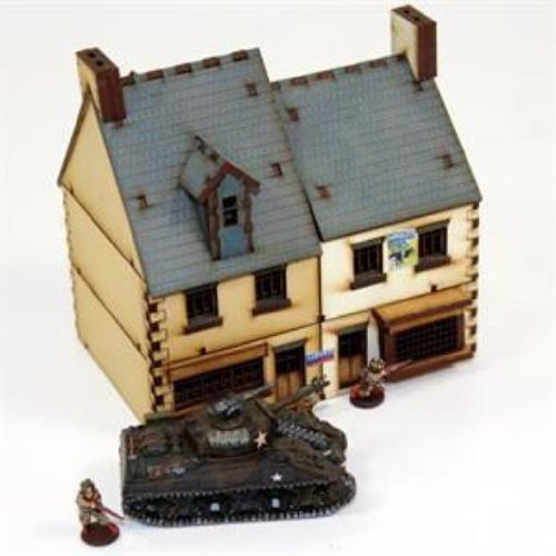 Europe At War - Buildings 15mm Shop Type #2 (Pre-Painted)