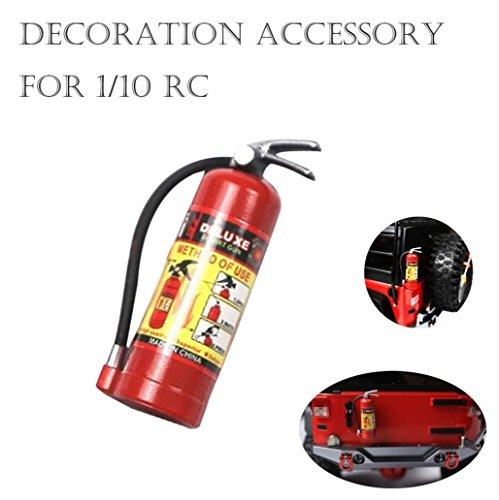 Iusun RC Accessory Fire Extinguisher, 1/10 RC Crawler Accessory Parts Fire Extinguisher Model For Axial SCX10 TRX4 (Red)