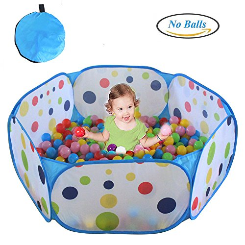 Kids Ball Pit, TD Large Pop Up Toddler Ball Pits Tent for Toddlers, Children for Indoor Outdoor Baby Playpen with Zipper Storage Bag, Balls Not Included