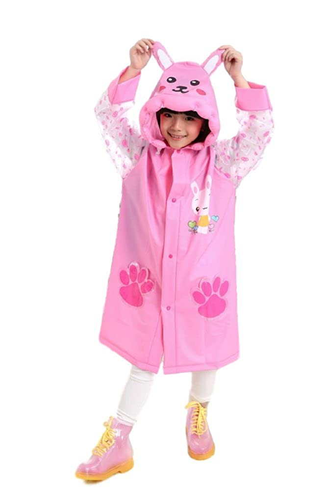 RF Children Animal Rain Coat Wig Set with Handkerchief