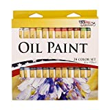 US Art Supply 12ML Oil Tube Artist Paint Set (24-Tubes)