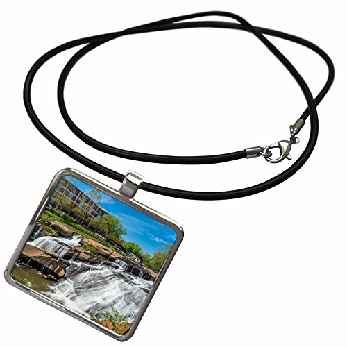3dRose Cities of The World - Greenville Falls Park, South Carolina - Necklace with Rectangle Pendant (ncl_268629_1) ()