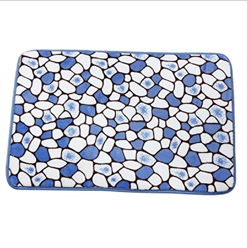 Qualified Memory Foam Mat Bath Rug Shower Non-slip Floor decoration Carpet (Blue) (Quick Halloween Decorations To Make)