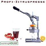 workingHOUSE® Estrattore professionale per succhi, agrumi, manuale, di grande qualità e stabile
