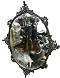 Global Art World Venetian Antique Mid Century Modern Ornate Mirror In A Beautiful Gothic Vintage Collectible Metal Frame Decorative Reflecting And Authentic Wall Mirrors HB 0162