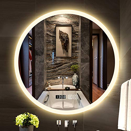 Wall Mounted Vertical or Horizontal,Dimmable Touch Switch Illuminated Mirror,Adjustable 3000K//4000K//5000K,Anti-Fog,IP44 Waterproof LONGBRITE 32 x 24 Inch Led Bathroom Vanity Mirror